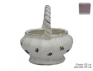 Сахарница в форме корзины 16см Lenardi Полевые цветы 105-060