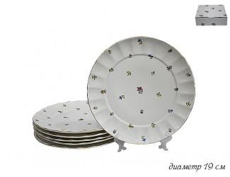Набор из 6 тарелок 19см Lenardi Полевые цветы 105-070