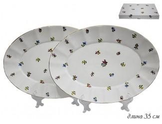 Набор из 2 овальных блюд 35см Lenardi Полевые цветы 105-074