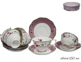 Набор чайных пар на 6 персон 12 предметов Lenardi Розали 105-085