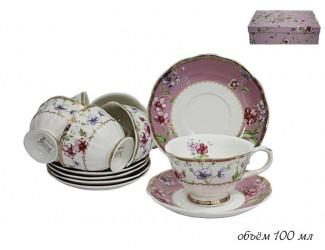 Набор кофейных пар 12 предметов Lenardi Розали 105-086