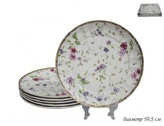 Набор тарелок 6шт 19,5см Lenardi Розали 105-088