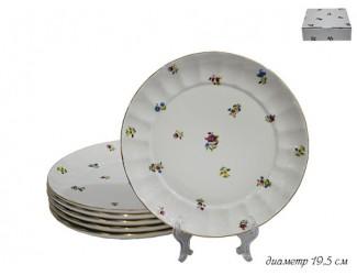 Набор из 6 тарелок 19,5см Lenardi Полевые цветы 105-089
