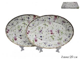 Набор из 2 овальных блюд 29см Lenardi Розали 105-092