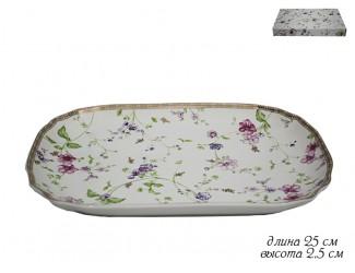 Блюдо прямоугольное 25см Lenardi Розали 105-108