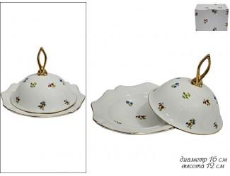 Блюдо 16см с крышкой Lenardi Полевые Цветы 105-114