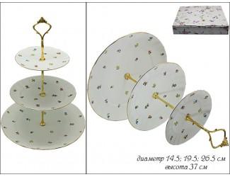 Этажерка трехъярусная Lenardi Полевые Цветы 105-124