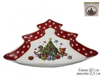 Блюдо Ёлка 20с*2,5м Lenardi Новогодний 105-132