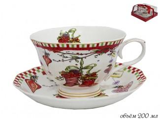 Чайная пара 200мл Lenardi Новогодний 105-134