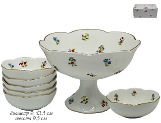 Набор для варенья креманка и 6 розеток Lenardi Полевые Цветы 105-153