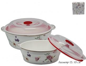 Набор из 2 салатников с крышками 15,18см Lenardi Флоренс 105-171