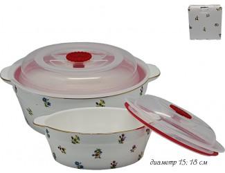 Набор из 2 салатников с крышками 15,18см Lenardi Полевые Цветы 105-172