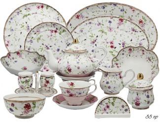 Чайно-столовый сервиз на 12 персон 88 предметов Lenardi Розали 105-191