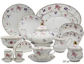 Чайно-столовый сервиз на 12 персон 88 предметов Lenardi Флоренс 105-192