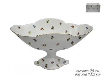 Конфетница на ножке 25см Lenardi Полевые Цветы 105-205