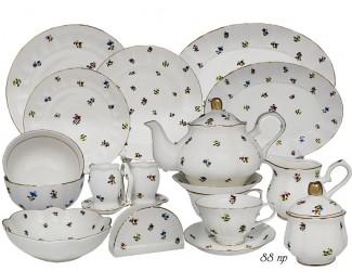 Чайно-столовый сервиз на 12 персон 88 предмета Lenardi Полевые Цветы 105-275