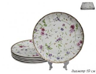 Набор тарелок 6шт 19см Lenardi Розали 105-282