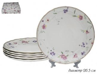 Набор из 6 тарелок 26.5см Lenardi Флоренс 105-283