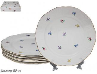 Набор из 6 тарелок 26см Lenardi Цветы 105-309