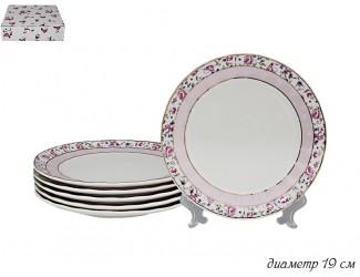 Набор из 6 тарелок 19см Lenardi Розовый сад 105-382