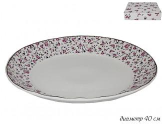 Блюдо 40см Lenardi Розовый сад 105-403