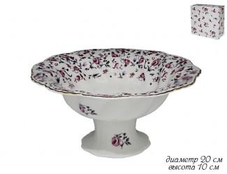 Конфетница 20см Lenardi Розовый сад 105-406