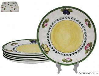 Набор из 6 тарелок 27см Lenardi Фрукты 105-423