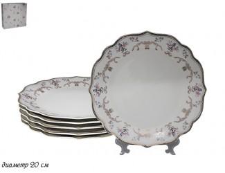 Набор из 6 тарелок 20см Lenardi Нежность 105-443