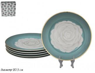 Набор из 6 тарелок 20,5см Lenardi Седая Роза 105-568