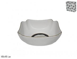 Квадратный салатник 16см Lenardi Седая Роза 105-580