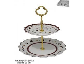 Этажерка двухъярусная Lenardi Новогодний 105-613