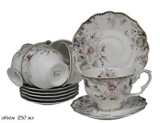 Набор чайных пар на 6 персон 12 предметов Lenardi Хризантемы 105-625