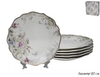 Набор из 6 тарелок Lenardi Хризантемы 105-629