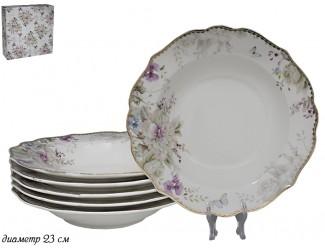 Набор из 6 глубоких тарелок Lenardi Хризантемы 105-631