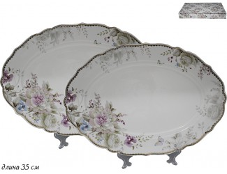 Набор из 2 овальных блюд Lenardi Хризантемы 105-632