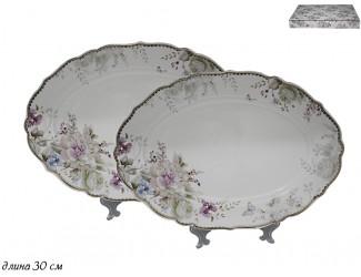 Набор из 2 овальных блюд Lenardi Хризантемы 105-633
