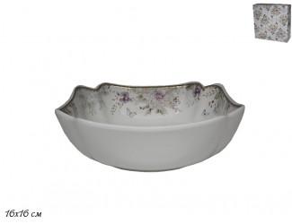 Квадратный салатник 16см Lenardi Хризантемы 105-636