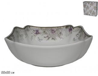 Квадратный салатник 23см Lenardi Хризантемы 105-637
