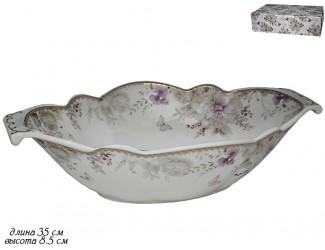 Салатник 35см Lenardi Хризантемы 105-647
