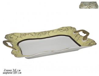 Блюдо прямоугольное 34см Lenardi Мрамор 105-676