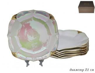 Набор тарелок 6шт 21см Lenardi Перламутр 105-692