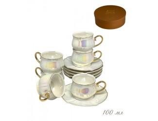 Набор кофейных пар на 6 персон 12 предметов Lenardi Перламутр 105-755