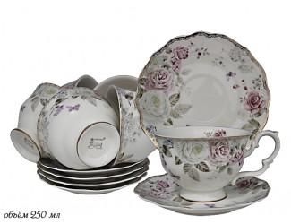 Набор чайных пар 12 предметов Lenardi Пионы 105-782