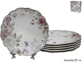 Набор из 6 тарелок 26см Lenardi Пионы 105-787