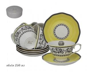 Набор чайных пар на 6 персон 12 предметов Lenardi Provence 105-914