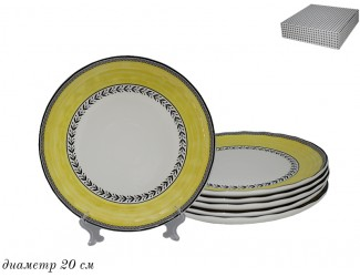 Набор тарелок 6шт 20см Lenardi Provence 105-916