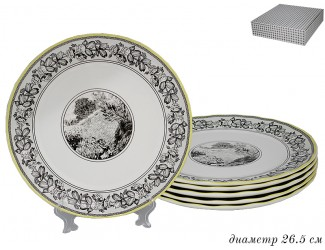 Набор тарелок 6шт 27см Lenardi Provence 105-918