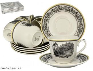 Набор чайных пар на 6 персон 12 предметов Lenardi Provence 105-934
