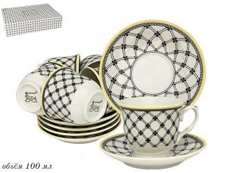 Набор кофейных пар на 6 персон 12 предметов Lenardi Provence 105-935