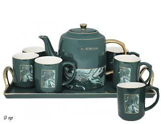 Набор чайных пар 9 предметов Lenardi зеленый 106-066